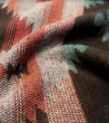 Sportswear Apparel Fabric-Aztec Jacquard Brown Orange Teal