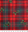 Keepsake Calico Holiday Cotton Fabric -Hollys on Plaid