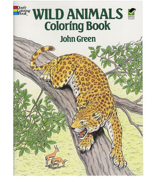 Adult Coloring Book Dover Publication Wild Animals
