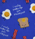 3 Yard Pre-Cut Snuggle Fabric 42\u0022-Breakfast Wake Up Call