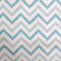 Snuggle Flannel Fabric -Blue Chevron