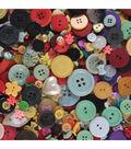 Flair 1 lb Buttons Mix-Shapes Sizes Colors