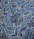 Stretch Chiffon Fabric 57\u0027\u0027-Boho Floral on Blue