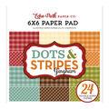 Echo Park Paper Company Dots & Stripes Gingham 6\u0027\u0027x6\u0027\u0027 Paper Pad-Autumn