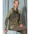 Vogue Pattern V1521 Misses\u0027 Cowl-Neck, Fringe-Top-Size 6-8-10-12-14