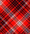 Snuggle Flannel Fabric 42\u0027\u0027-Kate Orange & Navy Plaid