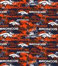 Denver Broncos Cotton Fabric-Distressed
