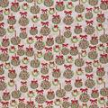 Christmas Cotton Fabric-Christmas Wreaths Cream