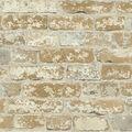 York Wallcoverings Wallpaper-Stuccoed Brown Brick