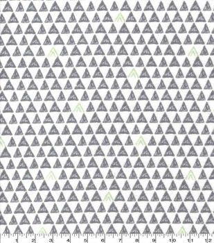 Nursery Flannel Fabric-Boone Tiny Triangles Geo