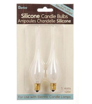 Darice 2 Pk 5W Silicone Candle Bulbs