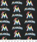 Miami Marlins Cotton Fabric 58\u0022-Logo Block