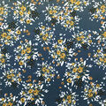 Knit Prints Double Brushed Fabric-Dusty Blue Abstract Floral