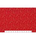 Holiday Cotton Fabric -Glitter Scrolls