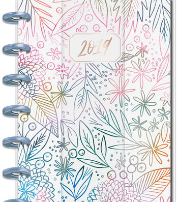 Happy Planner 12 Month Mini Planner-Watercolor Flowers
