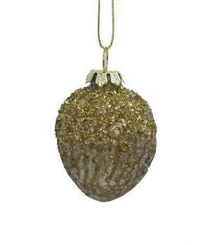 Handmade Holiday Christmas Mystical Midnight Glitter Ball Ornament-Gold