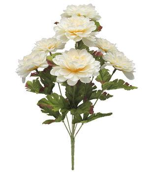Blooming Autumn 15'' Marigold Bush-Cream
