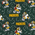 Green Bay Packers Cotton Fabric-Mickey Mouses