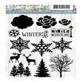 Precious Marieke Winter Flowers 14 pk Clear Stamps-Winter Wonderland