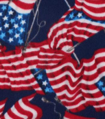 Blizzard Fleece Fabric -Flying Flag