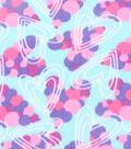 Blizzard Fleece Fabric 59\u0027\u0027-Cluster Hearts