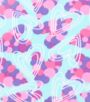 Blizzard Fleece Fabric 59''-Cluster Hearts
