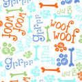 Snuggle Flannel Fabric-Sniff Sniff, Woof Woof & Grrrr