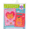 Vervaco I Stitch! Kits 4 Kids Embroidery Cards Kit-Cat & Cat