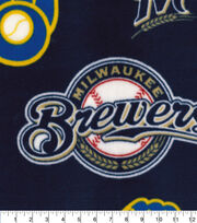 Milwaukee Brewers  Fleece Fabric-Cooperstown, , hi-res