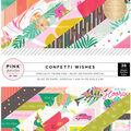 Pink Paislee Single-Sided Paper Pad 6\u0022X6\u0022 36/Pkg-Confetti Wishes