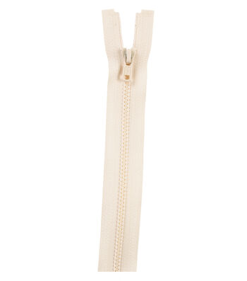 "Molded Separating Zipper 12""-Natural"