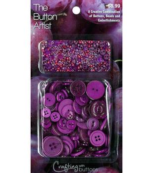 The Button Artist Buttons & Beads Plum