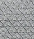 Doodles Collection Fabric -  Majestic Quilted Knit Heathered Gray