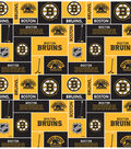 Boston Bruins Fleece Fabric -Block