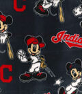 Cleveland Indians Fleece Fabric-Mickey
