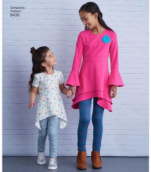 Simplicity Pattern 8430 Children's/Girls' Apparel-Size K5 (7-8-10-12-14)