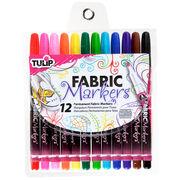Tulip Fabric Markers 12/Pkg Fine Tip, , hi-res