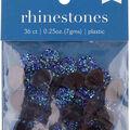 hildie & jo 36 pk 0.25 oz. Plastic Flat Back Rhinestones-Blue Assorted