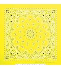 Carolina 21\u0027\u0027x21\u0027\u0027 Cotton Bandana-Neon Yellow Paisley