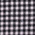 Flannel Shirting Fabric-Black White Mini Check