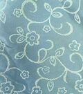Glitterbug Fabric-Satin Print Light Blue