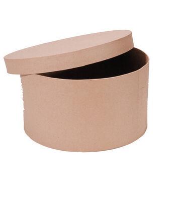 "Darice 14"" Paper Mache Hat Box"