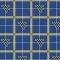 West Virginia University Mountaineers Flannel Fabric 42\u0022-Plaid