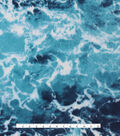 Anti-Pill Fleece Fabric -Real Ocean Photo