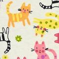 Snuggle Flannel Fabric -Kitties on Ivory
