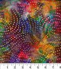 Legacy Studio Indonesian Batiks Cotton Fabric 44\u0022-Dotted Swirls Black