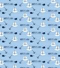 Snuggle Flannel Fabric-Ahoy It\u0027s A Boy