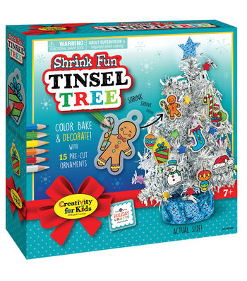 Creativity for Kids Shrink Fun Tinsel Tree