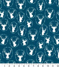 Quilter\u0027s Showcase Cotton Quilt Fabric -Deer Head Teal