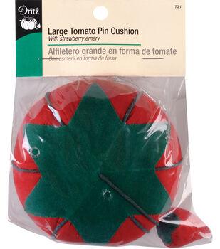 "Dritz Large Tomato Pin Cushion w/Strawberry Emery 4"""